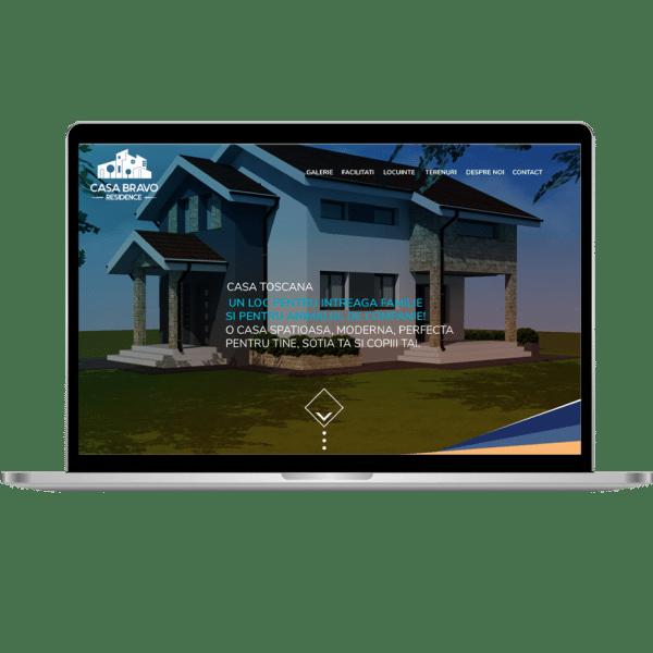 Hold Marketing Agentie de publicitate - Casa Bravo Residence laptop