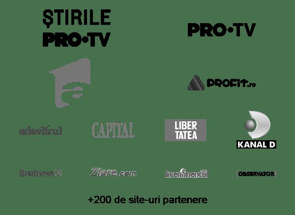 Servicii optimizare seo - Logo site-uri partenere pentru advertoriale